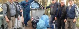 Člani vinogradniškega društva so očistili traso v Breškem