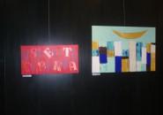 Na razstavi Tekst v podobi razstavljata tudi Mojca Musar in Katja Pibernik